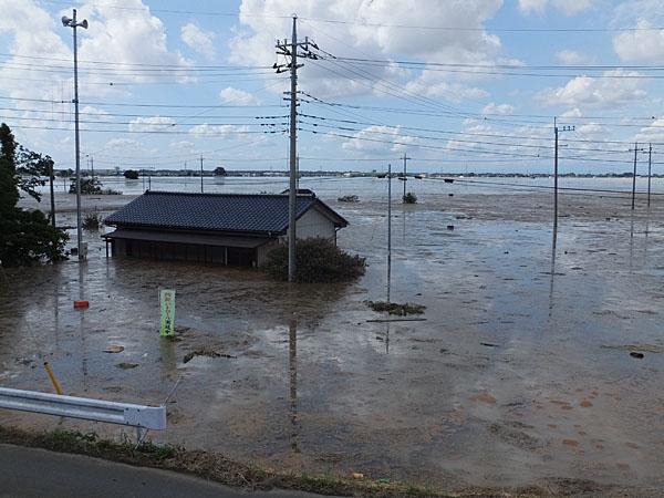 広い範囲が浸水